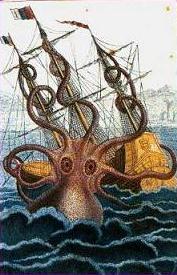 Colossal octopus pierre denys de montfort 1810