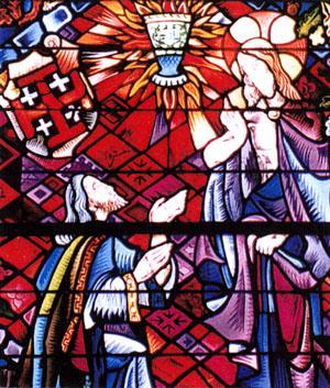 Le saint graal vitrail eglise sainte onenne trehorenteuc