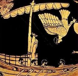 Ulysse et les Sirènes (vase attique à figures rouges),vers 480-470 av. J.-C