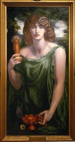 Mnemosyne dante gabriel rossetti huile sur toile 1875