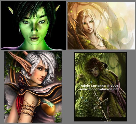 Representations artistiques d elfes